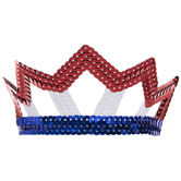 Red, White & Blue Pointed Sequin Tiara