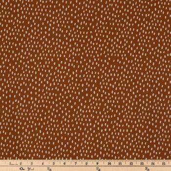 Rust Dots Apparel Fabric
