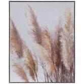 Pampas Grass Canvas Wall Decor