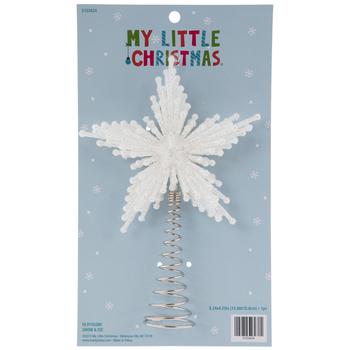 White Glittered Starburst Mini Tree Topper