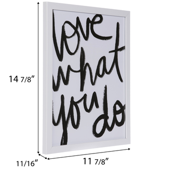 Love What You Do Framed Wall Decor