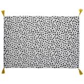 Black, White & Yellow Dot Tassel Placemat