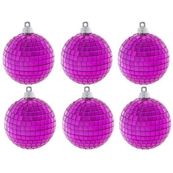 Hot Pink Disco Ball Ornaments