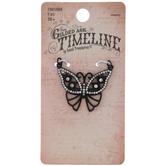 Black Butterfly Rhinestone Pendant