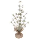 Sage Glitter Pine Tree