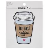 But First Coffee Iron-On Applique