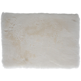 White Faux Fur Placemat
