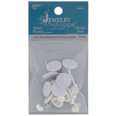 Adhesive Earring Posts With Clutch Backs - 12mm