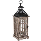 Black & Gray Wood Lantern