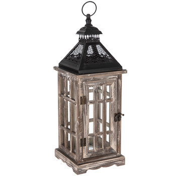 Black Gray Wood Lantern Hobby Lobby 1274406