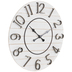 White Distressed Wood Wall Clock