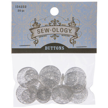 Clear Glitter Buttons