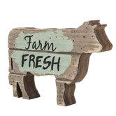 Farm Fresh Wood Cow Decor