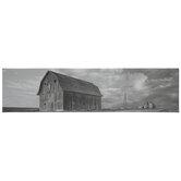 Gray & White American Barn Canvas Wall Decor
