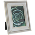 Distressed White Beaded Wood Frame - 5