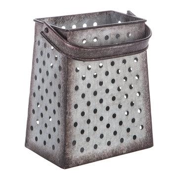 Grated Metal Bucket