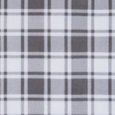 Gray & White Plaid Anti-Pill Fleece Fabric