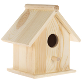 Traditional Square Wood Birdhouse