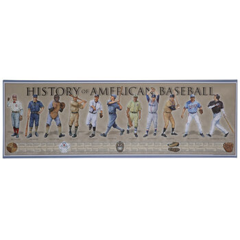 History Of Baseball Canvas Wall Decor