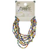 Rainbow Dyed Seed Bead Bracelets