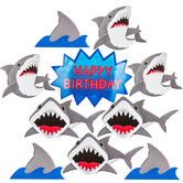 Shark Party Cutouts