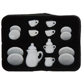 Miniature White Tea Set