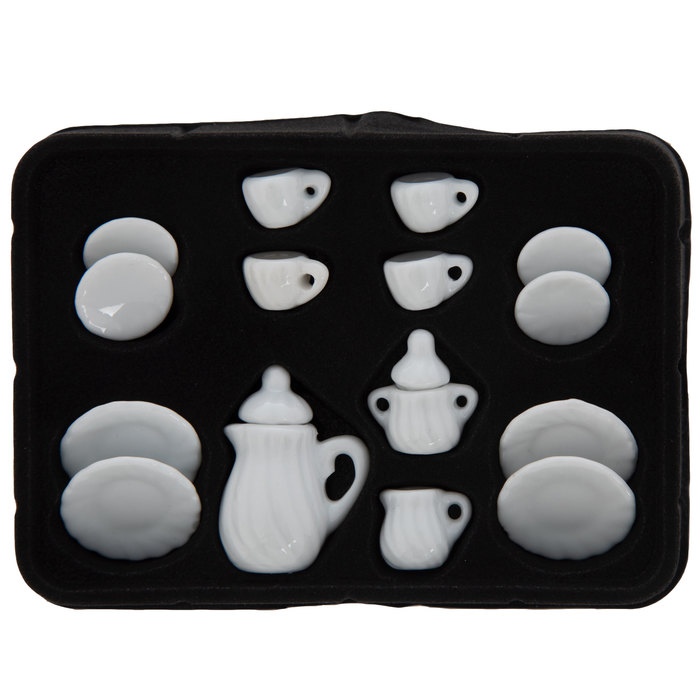 Miniature White Tea Set Hobby Lobby 605303