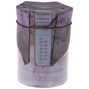 Lavender Fields Pillar Candle