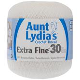 White Aunt Lydia's Extra Fine Crochet Thread
