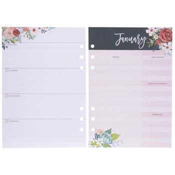 Floral Undated Planner Inserts - 12 Months