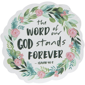 Isaiah 40:8 Wreath Painted Wood Shape