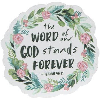 Isaiah 40:8 Wreath Painted Wood Shape