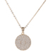 Rhinestone Circle Necklace
