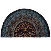 Blue Mandala Half Circle Doormat