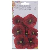 Red Poppy Prima Flower Embellishments