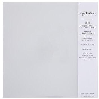 """Strap Hinge Slip-On Album Refill Sleeves - 12"""" x 12"""""""