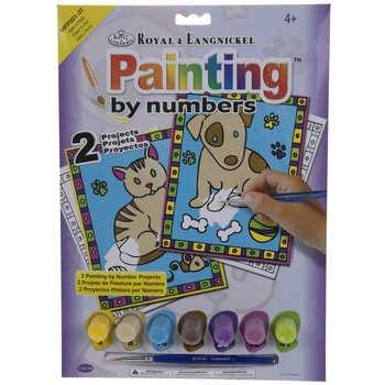 Kitten & Puppy Paint By Number Kit