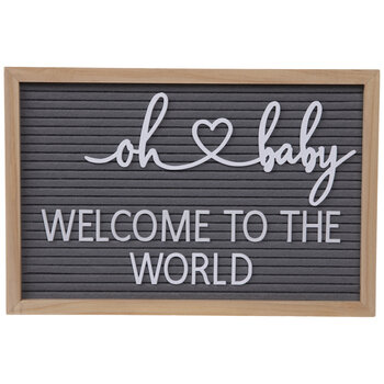 Oh Baby Felt Letter Board Wall Decor