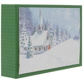 Merry Christmas Winter Church Cards