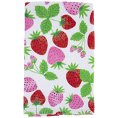 Pink & Red Strawberries Kitchen Towel