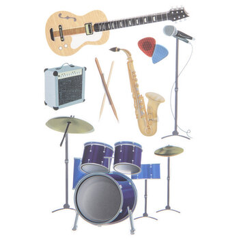 Instruments 3D Stickers