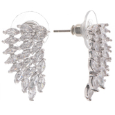 Rhinestone Wing Earrings
