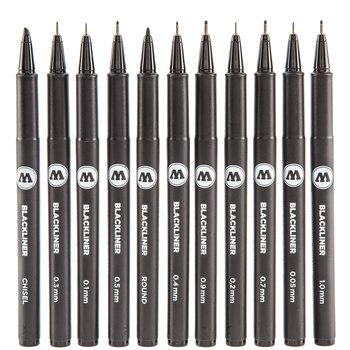 Blackliner Permanent Markers - 10 Piece Set