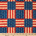 America The Beautiful Flag Patchwork Cotton Calico Fabric
