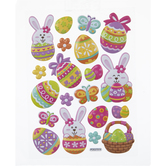 Easter Egg & Bunny Puffy Stickers