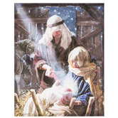Nativity Canvas Wall Decor