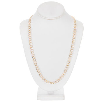 """Curb Chain Necklace - 30"""""""