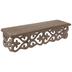 Brown Carved Fleur-De-Lis Wood Wall Shelf