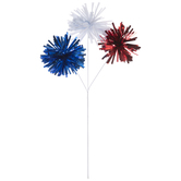 Solid Red, White & Blue Pom Pom Pick