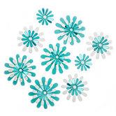 Blue Daisy 3D Adhesive Wall Art